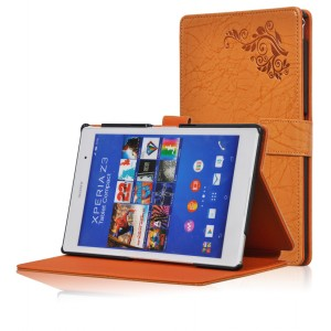 Чехол подставка текстурный для Sony Xperia Z3 Tablet Compact Оранжевый