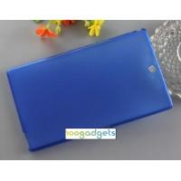 Силиконовый матовый полупрозрачный чехол для Sony Xperia Z3 Tablet Compact Синий