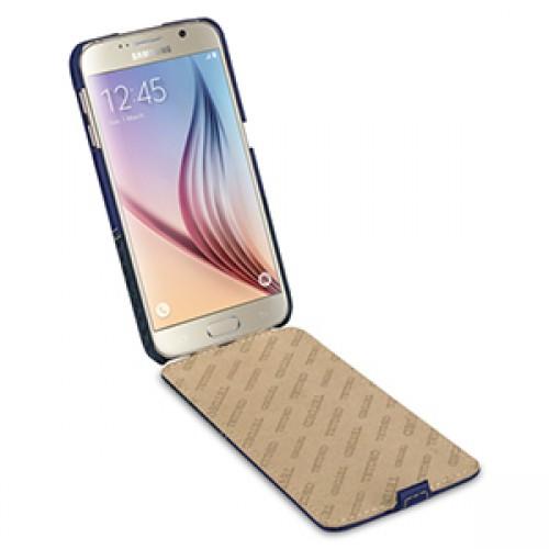 Эксклюзивный кожаный чехол книжка вертикальная (2 вида кожи) для Samsung Galaxy S6