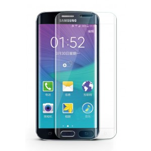 Ультратонкая износоустойчивая сколостойкая олеофобная защитная объемная стеклянная панель на плоскую и изогнутые поверхности экрана для Samsung Galaxy S6 Edge Plus