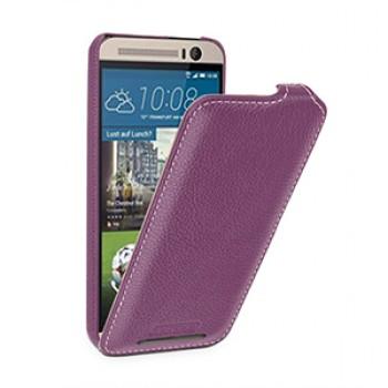 Кожаный чехол вертикальная книжка (нат. кожа) для HTC One M9+
