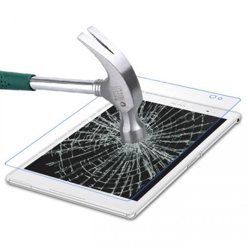 Ультратонкое износоустойчивое сколостойкое олеофобное защитное стекло-пленка для Sony Xperia Z3 Tablet Compact