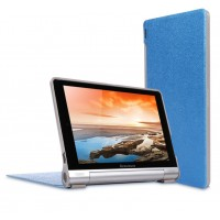 Чехол подставка на поликарбонатной основе текстура Золото для Lenovo Yoga Tablet 10 Синий