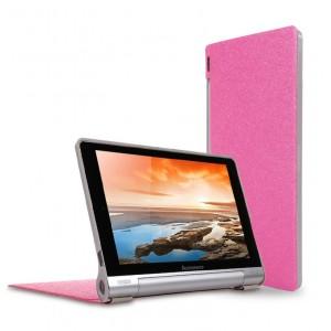 Чехол подставка на поликарбонатной основе текстура Золото для Lenovo Yoga Tablet 10 Пурпурный