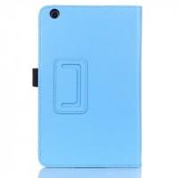 Чехол подставка с рамочной защитой для Lenovo IdeaTab A5500 Голубой