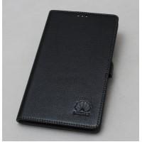 Кожаный чехол подставка (нат. кожа) для MediaPad X1 7.0 Черный