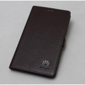 Кожаный чехол подставка (нат. кожа) для MediaPad X1 7.0 Коричневый