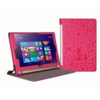 Текстурный чехол подставка с рамочной защитой для Lenovo Yoga Tablet 2 10 Пурпурный
