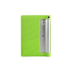 Силиконовый матовый текстурный чехол для Lenovo Yoga Tablet 2 10 Зеленый