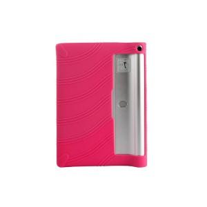 Силиконовый матовый текстурный чехол для Lenovo Yoga Tablet 2 10 Пурпурный