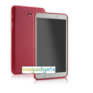 Силиконовый глянцевый чехол для Samsung GALAXY Tab 4 8.0 Красный