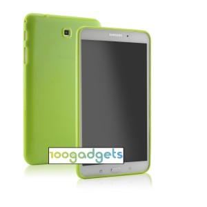 Силиконовый глянцевый чехол для Samsung GALAXY Tab 4 8.0 Зеленый