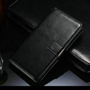 Глянцевый чехол портмоне подставка с застежкой вперед для Lenovo P780 Черный