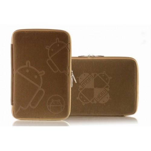 Фланелевый чехол папка с бархатным покрытием на молнии для планшетов с диагональю 7 дюймов