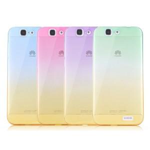 Силиконовый градиентный полупрозрачный чехол для Huawei Ascend G7