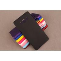 Пластиковый матовый непрозрачный чехол для Samsung Galaxy A5 Черный
