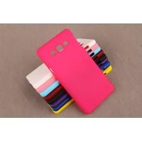 Пластиковый матовый непрозрачный чехол для Samsung Galaxy A5 Пурпурный