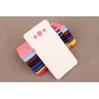 Пластиковый матовый непрозрачный чехол для Samsung Galaxy A5 Белый