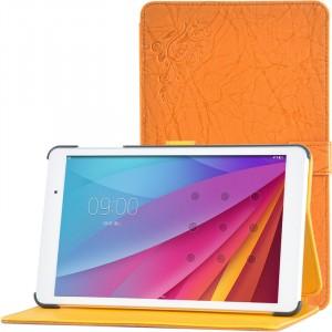 Сегментарный чехол книжка подставка текстура Узоры на непрозрачной поликарбонатной основе для Huawei MediaPad T2 10.0 Pro Оранжевый