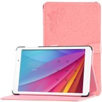 Сегментарный чехол книжка подставка текстура Узоры на непрозрачной поликарбонатной основе для Huawei MediaPad T2 10.0 Pro Розовый