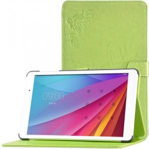 Сегментарный чехол книжка подставка текстура Узоры на непрозрачной поликарбонатной основе для Huawei MediaPad T2 10.0 Pro Зеленый