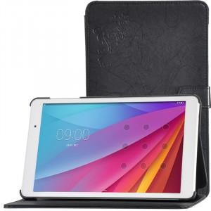 Сегментарный чехол книжка подставка текстура Узоры на непрозрачной поликарбонатной основе для Huawei MediaPad T2 10.0 Pro Черный