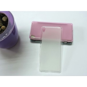 Силиконовый матовый полупрозрачный чехол для Sony Xperia XA Белый