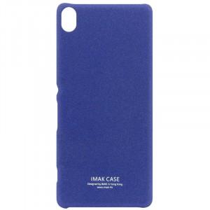 Пластиковый непрозрачный матовый чехол с повышенной шероховатостью для Sony Xperia XA Синий
