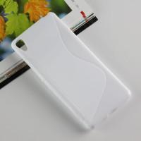 Силиконовый матовый полупрозрачный чехол с дизайнерской текстурой S для Sony Xperia XA Белый