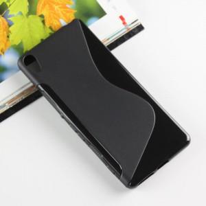 Силиконовый матовый полупрозрачный чехол с дизайнерской текстурой S для Sony Xperia XA Черный