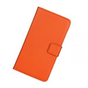 Чехол портмоне подставка на пластиковой основе на магнитной защелке для Sony Xperia XA Оранжевый