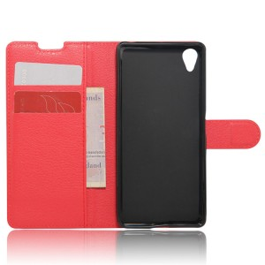 Чехол портмоне подставка на силиконовой основе на магнитной защелке для Sony Xperia XA Красный