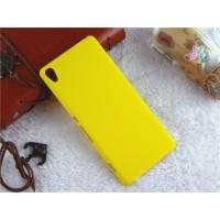 Пластиковый непрозрачный матовый чехол для Sony Xperia XA Желтый