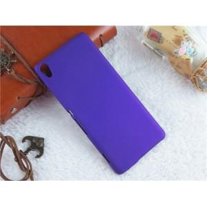 Пластиковый непрозрачный матовый чехол для Sony Xperia XA Фиолетовый