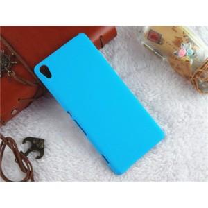 Пластиковый непрозрачный матовый чехол для Sony Xperia XA Голубой