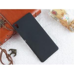 Пластиковый непрозрачный матовый чехол для Sony Xperia XA Черный