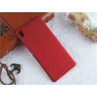 Пластиковый непрозрачный матовый чехол для Sony Xperia XA Красный