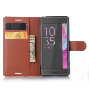 Чехол портмоне подставка на силиконовой основе на магнитной защелке для Sony Xperia X Performance