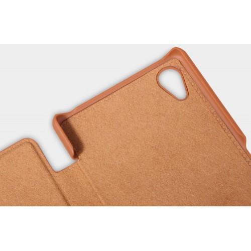 Винтажный чехол горизонтальная книжка на пластиковой основе с отсеком для карт для Sony Xperia X