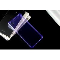 Силиконовый матовый полупрозрачный чехол с усиленными углами для Sony Xperia X  Фиолетовый