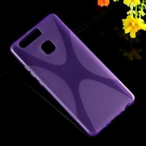 Силиконовый матовый полупрозрачный чехол с дизайнерской текстурой X для Huawei P9