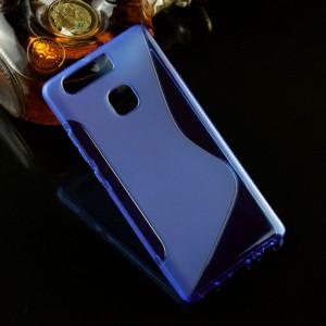 Силиконовый матовый полупрозрачный чехол с дизайнерской текстурой S для Huawei P9