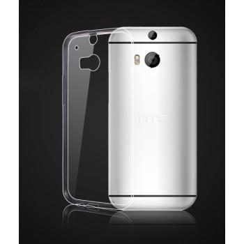 Силиконовый глянцевый полупрозрачный чехол для HTC One (M8)