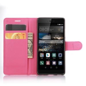 Чехол портмоне подставка на силиконовой основе на крепежной застежке для Huawei P9