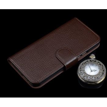 Кожаный чехол портмоне подставка (премиум нат. кожа) с крепежной застежкой для Huawei P9