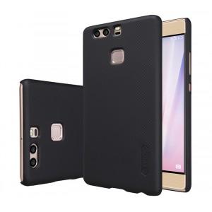 Пластиковый непрозрачный матовый нескользящий премиум чехол с повышенной шероховатостью для Huawei P9  Черный