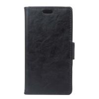 Чехол горизонтальная книжка подставка на силиконовой основе на магнитной защелке для ASUS ZenFone Go 4.5 ZB452KG Черный