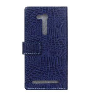 Чехол портмоне подставка текстура Крокодил на силиконовой основе на магнитной защелке для ASUS ZenFone Go 4.5 ZB452KG