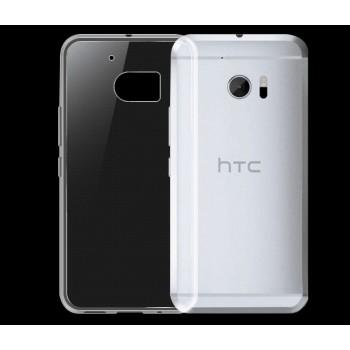 Силиконовый матовый транспарентный чехол для HTC 10