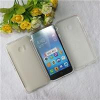Силиконовый матовый полупрозрачный чехол для HTC 10  Белый